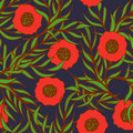 Poppy flower vector seamless pattern Royalty Free Stock Photo