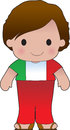 Poppy italian boy a smiling well dressed young lad wears clothing representative of italy Royalty Free Stock Photography