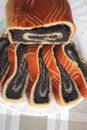 Poppy pie served Royalty Free Stock Photo