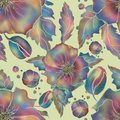 Poppy. Seamless Flowers pattern for textile or wallpaper.