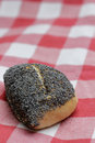 Poppy seed bun Royalty Free Stock Images