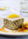 Poppy seed cake Royalty Free Stock Photos