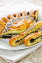 Poppy seed strudel Stock Photos