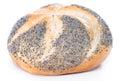 Poppyseed buns isolated on white pure background close up shot Royalty Free Stock Photo