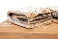 Poppyseed cake isolated on white Stock Images