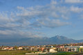 Poprad and High Tatra Mountain panorama, Western Carpathians Royalty Free Stock Photo
