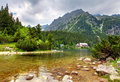 Popradske  pleso - Slovakia mountain landscape at summer Royalty Free Stock Photo