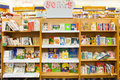 Popular childrens books store shelves packed with children s for young readers Royalty Free Stock Image
