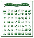 Popular ecological icons Stock Photo