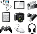 Popular electronic devices detailed set Royalty Free Stock Photography