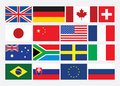 Popular Flat Flags-01(6).jpg Royalty Free Stock Photography