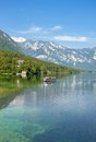 Popular lake bohinj triglav national park slovenia the in near bled Stock Photography