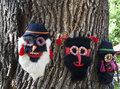Popular masks romanian traditional made by hand Stock Photo