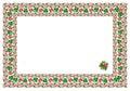Popular motif, pattern, regular motif, tablecloth