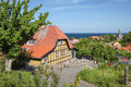 Popular restaurant destination on bornholm in gudhjem denmark Stock Image