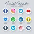 Popular social media logos collection