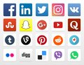 20 Popular Social Networking App Icons