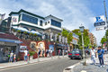 Popular tourist scene at historic foreign residential area in Kitano district, Kobe, Japan Royalty Free Stock Photo