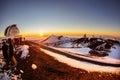image photo : Winter sunset on Mauna Kea