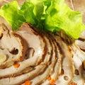 Porc cuit au four par ?old Photographie stock