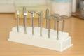 Porcelain adjustment tool kit for dental teeth Royalty Free Stock Photography