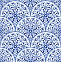 Porcelain blue pattern Royalty Free Stock Photo