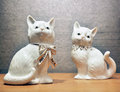 Porcelain cats a view of Stock Photography