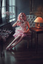 Porcelain doll girl Royalty Free Stock Photo
