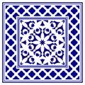 Porcelain frame design Royalty Free Stock Photo