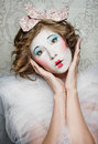 Porcelain girl Royalty Free Stock Images