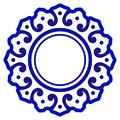 Porcelain round design Royalty Free Stock Photo