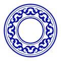 Porcelain round frame Royalty Free Stock Photo
