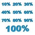 Porcentagens 3D Fotografia de Stock Royalty Free