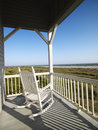 Porch at beach. Stock Image