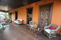 Porch with lounge in farm house brazil Royalty Free Stock Images