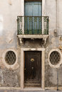 Porch of an old Italian house Royalty Free Stock Photo