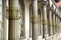 Porch of pillars modern architecture style venice Royalty Free Stock Images
