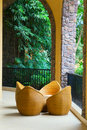 Porch with rattan chairs Royalty Free Stock Photo
