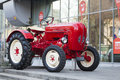 Porche junior tractor old parked on autumn car show Stock Images