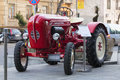 Porche junior tractor old parked on autumn car show Royalty Free Stock Photography