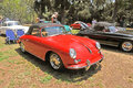 Porche speedster this is a red similar to the driven by the actor james dean the black is also a Royalty Free Stock Photo