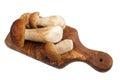 Porcini mushrooms fresh boletus on a white background Stock Image