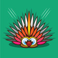Porcupine cartoon Royalty Free Stock Image