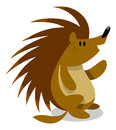 Porcupine cute little waving hello Stock Images