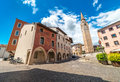 Pordenone, May 2015, Friuli Venezia Giulia region, Italy, View of Palazzo Ricchieri, Palace in the center of the city Royalty Free Stock Photo
