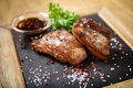 Pork breast on rib Royalty Free Stock Photo