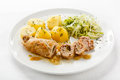 Pork chop and vegetables stuffed Royalty Free Stock Image