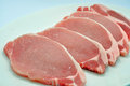 Pork chops close up shot of raw Royalty Free Stock Photo