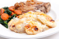 Pork chops with potato gratin Royalty Free Stock Photo
