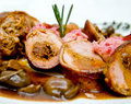 Pork fillet with sauce Royalty Free Stock Photography